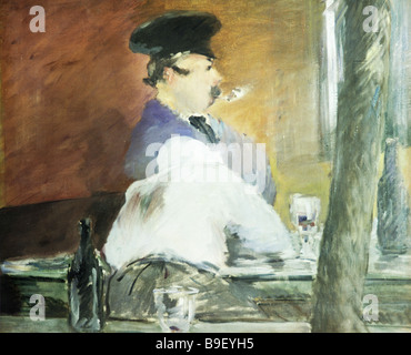 Le Bouchon in der Bar von Edouard Manet Reproduktion Sammlung des staatlichen Puschkin Museum der bildenden Künste - Stockfoto