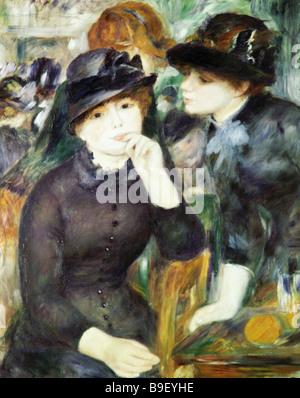 Mädchen in schwarz von Pierre Auguste Renoir Reproduktion Sammlung des staatlichen Puschkin Museum der bildenden - Stockfoto