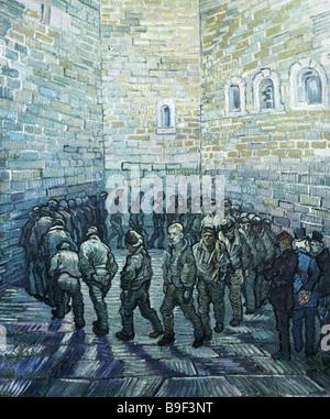 Das Gefängnis Courtyard by Vincent Van Gogh 1889 Reproduktion Sammlung des staatlichen Puschkin Museum der bildenden - Stockfoto