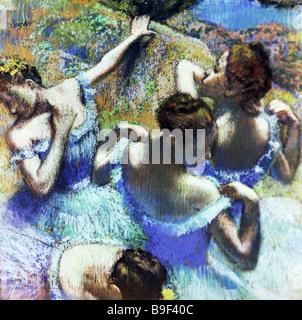 Das Gemälde blaue Tänzerinnen von Edgar Degas 1834 1917 Alexander Pushkin Fine Arts Museum