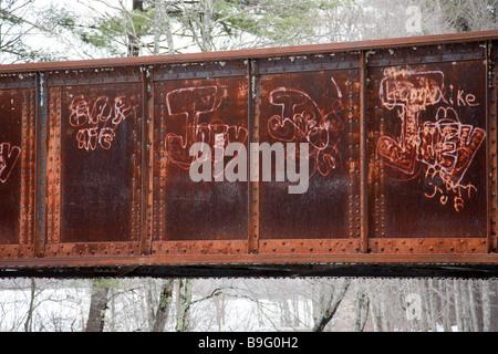 Alte Eisenbahnbrucke Auf Dem Eisenbahn Bett In Fremont New Hampshire