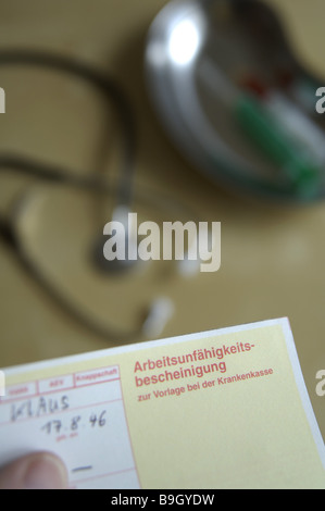 Des Arztes Büro Stethoskop Behinderung-Zertifikat Serie Praxis ...