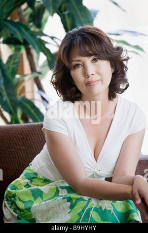 Porträt der selbstbewusste Reife Frau - Stockfoto