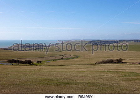 South Downs Blick von Beachy Head, East Sussex, UK - Stockfoto