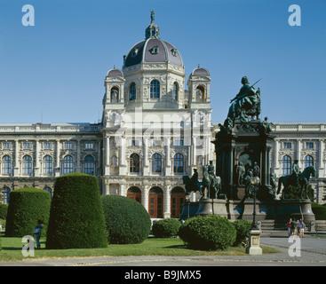 Austria Wien Kunst-Historicals Museum Park Denkmal Sommer Kultur-Hauptstadt kunsthistorische Hochbau - Stockfoto
