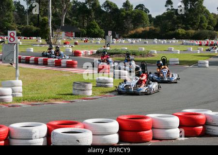Go Kart racing - Stockfoto