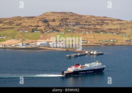 Caledonian MacBrayne Fähre Ankunft in Uig auf der Trotternish-Halbinsel im Nordwesten von der Isle Of Skye-SCO-2246 - Stockfoto