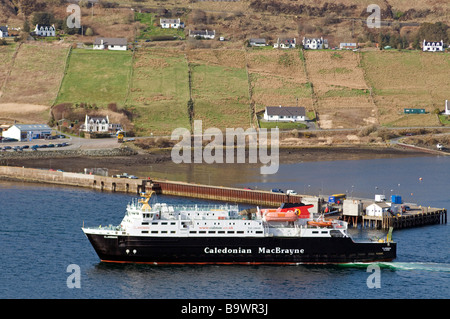 Caledonian MacBrayne Fähre Ankunft in Uig auf der Trotternish-Halbinsel im Nordwesten von der Isle Of Skye-SCO-2249 - Stockfoto