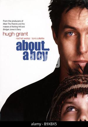 ÜBER A BOY Poster für das Jahr 2002 UIP film mit Hugh Grant und Nicholas Hoult - Stockfoto