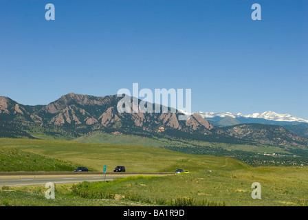 Autobahn in der Nähe von Boulder Colorado - Stockfoto