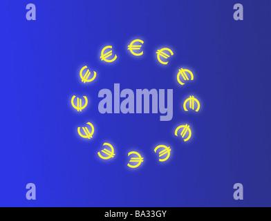 Computergrafik Währung-Zeichen Euro Europa Währung Währung Euro ...