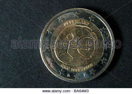 Niederlande 2 Euro Münze Stockfoto Bild 77012357 Alamy