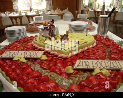 Lokal Drinnen Tisch Hochzeit Pie Party Feier Hochzeit Ehe Partei Pie