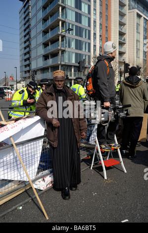 Während des G20-Gipfels - 2. April in London zu protestieren.  2009 - Stockfoto