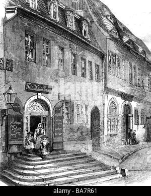 Händel, George Frederic, 23.2.1685 - 14.4.1759, deutscher Komponist, Geburtsort, Händelhaus, Halle an der Saale, - Stockfoto