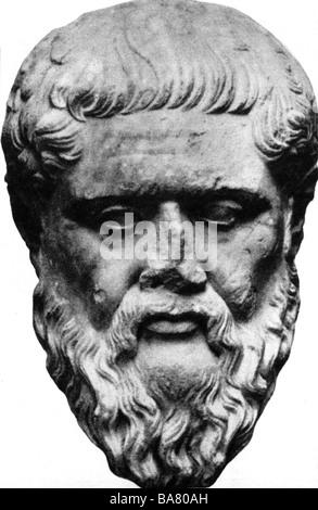 Plato, 427-347 v. Chr., griechischer Philosoph, Porträt, Büste, antike, Skulptur, moral, Philosophie, - Stockfoto