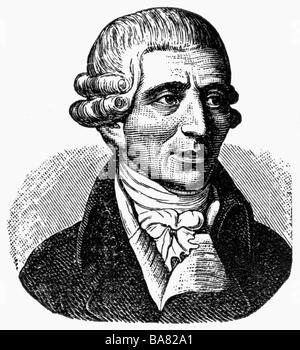 Haydn, Joseph, 31.3.1732 - 31.5.1809, Österreichischer Komponist, Porträt, Holzstich, 19. Jahrhundert, Additional - Stockfoto