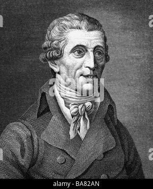 Haydn, Joseph, 31.3.1732 - 31.5.1809, Österreichischer Komponist, Porträt, Stahlstich, Jahrhundert, Artist's Urheberrecht - Stockfoto