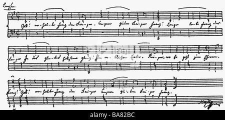Haydn, Joseph, 31.3.1732 - 31.5.1809, österreichischer Komponist, Werke, 'Kaiserhymne', Notenblätter, 1796, - Stockfoto