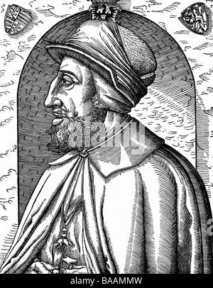 Ferdinand I., 10.3.1503 - 25.7.1564, Kaiser des Heiligen Römischen Reiches 24.3.1556 - 25.07.1564, Porträt, Seitenansicht, - Stockfoto