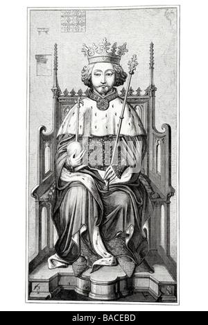 Richard II 1367 1400 König von England Plantagenet Regentschaft Prinz - Stockfoto