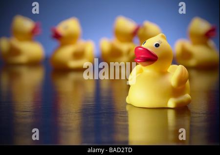 Spielzeug-Gummienten - Stockfoto