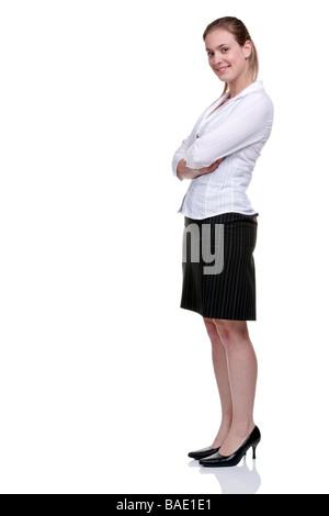 frau tr gt gestreifte high heels stockfoto bild 11731557 alamy. Black Bedroom Furniture Sets. Home Design Ideas