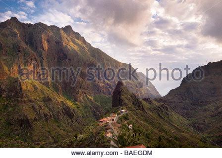 Das Dorf Masca, Teneriffa, Kanarische Inseln, Spanien. - Stockfoto