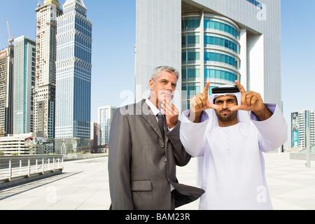 Unternehmer in dubai - Stockfoto