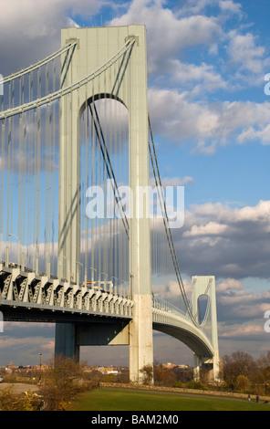 Verrazano-Narrows-Hängebrücke Staten Island New York City Seilaufhängung Highway 278 - Stockfoto