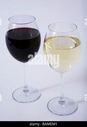 Glas Weißwein - Stockfoto