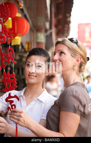 Ein Tourist besucht Shanghai - Stockfoto