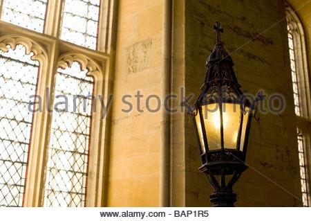 Lampe im Christ Church College Oxford - Stockfoto