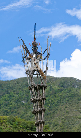 Yali Mabel der Häuptling des Stammes Dani Papua Indonesien - Stockfoto