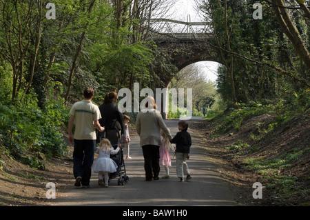 Die Rodwell Trail in Weymouth in Dorset, England - einen Spaziergang entlang der ehemaligen Weymouth + Portland - Stockfoto