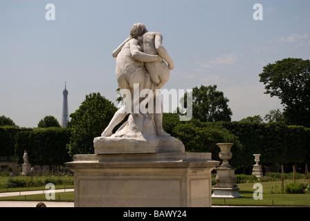 Statue im Jardin des Tuileries - Stockfoto
