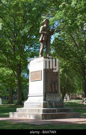 """Stille Sam"" konföderierten Soldaten Statue, University of North Carolina, Chapel Hill"