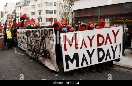 Die Mayday-Protest in Brighton auf Bank Holiday Montag 2009 - Stockfoto