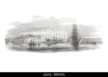 """Stadt von Auckland """"Wellenlinien"""" ihrer Majestät Schiff Segelboot Wind Holz Rumpf Händler Nacy marine ruhigem Wetter - Stockfoto"""