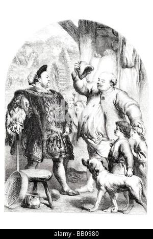 der König und der Müller von Dee von John gilbert - Stockfoto