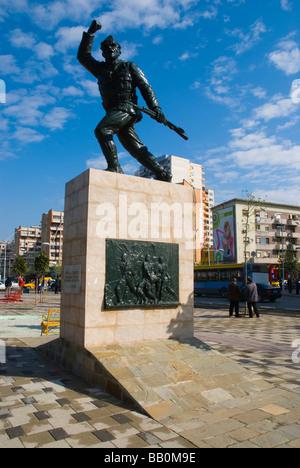Statue des unbekannten Partisanen in Mitteleuropa Tirana-Albanien - Stockfoto
