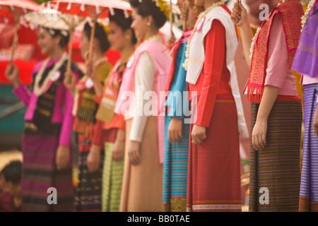 Miss Songkran Schönheitswettbewerb, Songkran wasserfest, Neujahrsfeier; Chiang Mai, Thailand - Stockfoto