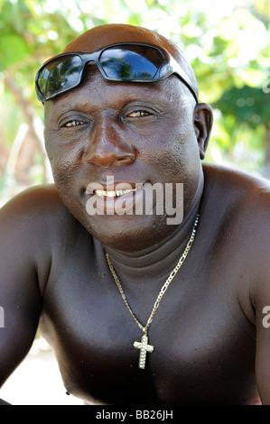 Sint Maarten-Porträt eines einheimischen - Stockfoto