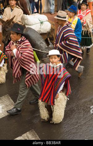 Südamerika, Ecuador, Quito, Pinchincha Provinz. Karwoche Entrada de Los Jocheros Prozession - Stockfoto