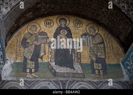 Christian-Mosaik in der Hagia Sofia in Istanbul, Türkei. - Stockfoto
