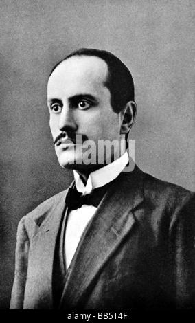 Mussolini, Benito, 29.7.1883 - 28.4.1945, italienischer Politiker, Premierminister 30.10.1922 - 25.7.1943, Porträt, - Stockfoto