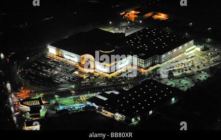 Luftaufnahme Nacht Erschossen Möbelhaus Zurbrueggen Unna