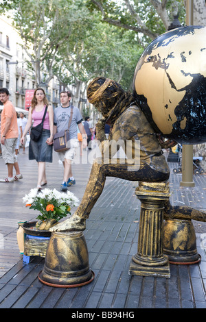 Straße Entertainer in Barcelona Spanien - Stockfoto