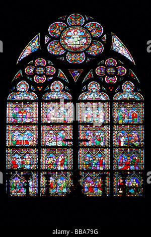 Buntglas-Fenster - Stockfoto