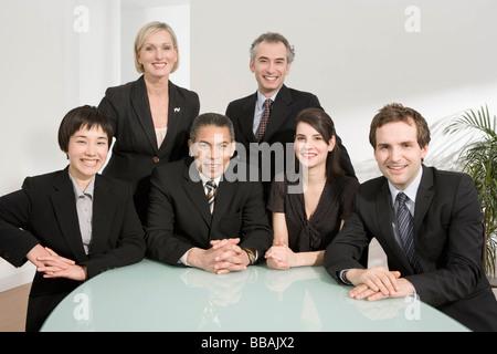 Porträt von einem Business-meeting - Stockfoto